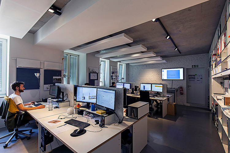 Illuminazione negli uffici creativi di archimedes officebit
