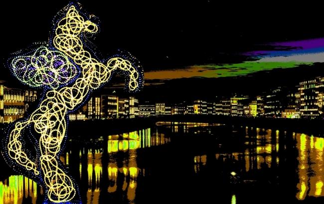 Sui lungarni di Pisa ogni anno a giugno la magia della Luminara di San ...