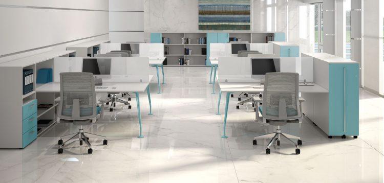 La scrivania protagonista indiscussa dell 39 arredo ufficio for Divisori mobili per ufficio