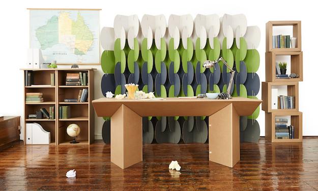 Ufficio eco sostenibile i mobili in cartone officebit for Pannelli di cartone